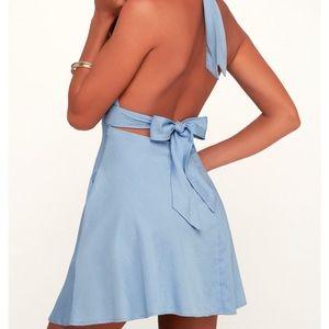 Lulus chambray dress!